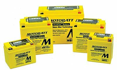 Motorcycle Battery, Motobatt Batteries and accessories.  Full Selection.