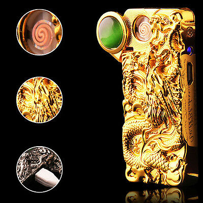 2017 Fashion 3D Chinese Dragon Flameless USB Rechargeable Cigarette Lighter