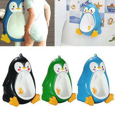 Penguin Potty Toilet Children Training Urine Urinal Boys Pee Trainer Bathroom US