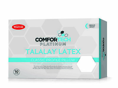 Tontine Comfortech Premium Talalay Latex Medium Profile & Feel Pillow RRP $89.95