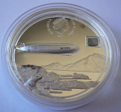 100th Anniversary of Graf Zeppelin $20 3oz Pure Silver Coin Cook Islands 2017