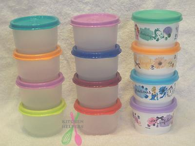 Tupperware Snack Cups -Set of 4 Choose Your Colors- Brand New Baby/Child/ Picnic