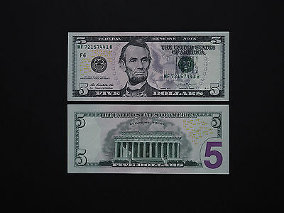 United States $5 Note 2013  -  Fantastic Abe Lincoln Issue   * Mint Gem Unc *