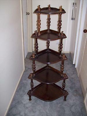 What Not Vintage Wooden 5 Tiered Corner Stand