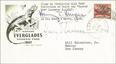 Harry S Truman - First Day Cover Signed Co-Signed By: Henry T. Myers