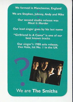 THE SMITHS British 1980s Rock Group Band 2006 QUIZ GAME TRIVIA PHOTO CARD #1