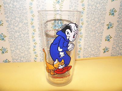 VERRE A MOUTARDE MAILLE 1983 GARGAMEL AYRAEL SCHTROUMPF peyo belocapi bd TBE