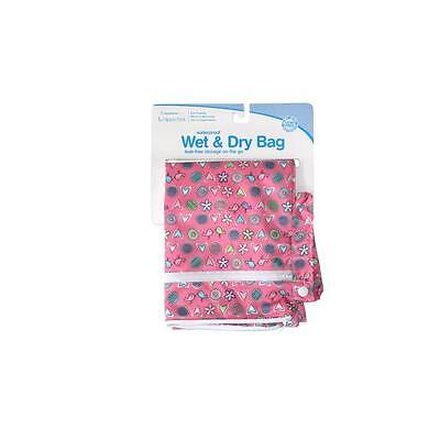 Hippychick Bumkins Wet/Dry Bag Love Birds Pink Waterproof Pouch Nappies Clothes