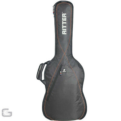 Ritter RGP2-D/BRD Dreadnought Acoustic Guitar Gig Carry Case Black Red