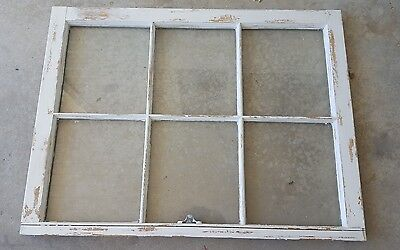 VINTAGE SASH ANTIQUE WOOD WINDOW FRAME PINTEREST RUSTIC 36x27 DISTRESSED CHIPPY
