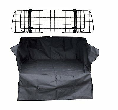 Heavy Duty Car Boot Liner Mat & Bumper Protector & Mesh Grill Dog Barrier Guard