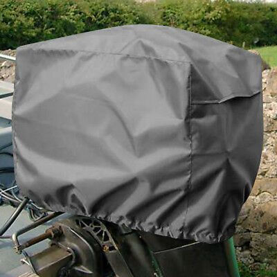 Grey Outboard Motor Boat Engine Rain Cover Protector for 2-5 HP Speed / Rib