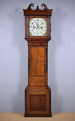 Antique Welsh Oak Longcase Clock c.1820.
