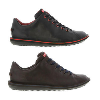 Camper Beetle 18648 Mens Black Brown Leather Shoes Size 8-11