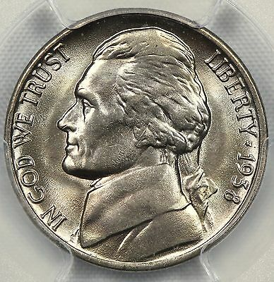 PCGS MS65 1938-D JEFFERSON NICKEL  5c    (DX68)