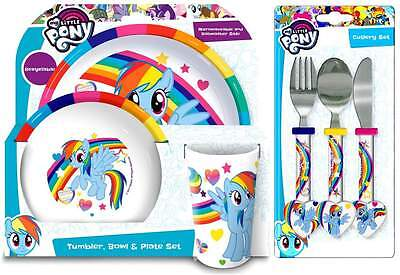 My Little Pony 6-Piece Dinner Set | Tumbler, Bowl, Plate and Cutlery