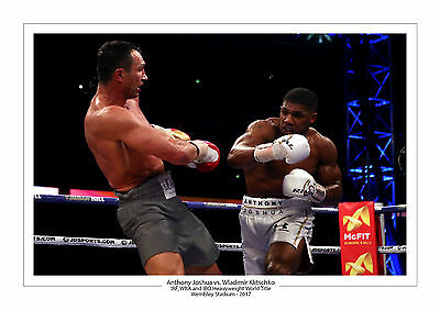 2017 Anthony Joshua Wladimir Klitschko A4 Photo Print A4 Boxing Wembley Boxing 3