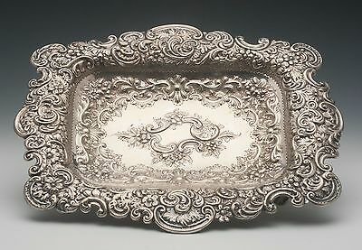 Hand Chased silverplated tray by George Shadford Lee & Henry Wigfull Sheffield