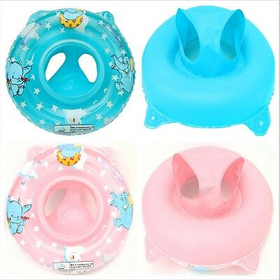 Inflatable Baby Kid Swimming Ring/Seat Toddle Handle Safety Aid Pool Water Float