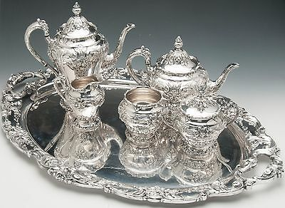 Renaissance by Reed & Barton Silverplated 5 pc Tea Set with Tray