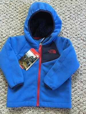 The North Face Infant Toddler Boy Chimbo Hoodie Jacket Jake Blue NWT $65