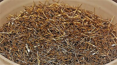 1lb of 24K Gold Plated pins from computer square connectors for gold recovery