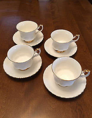 Royal Albert Val D'Or Teacups and Saucers (set of four)