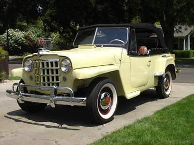 Willys Jeepster 48-51 Convertible Top+Window - Choice Of Color Haartz Vinyl