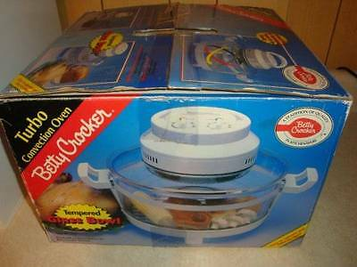 Betty Crocker Turbo Convection Oven Tempered Glass Bowl Fast Cooking