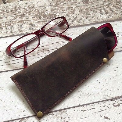 Handcrafted Personalised Genuine Leather Sunglasses Glasses Specs Case Pouch