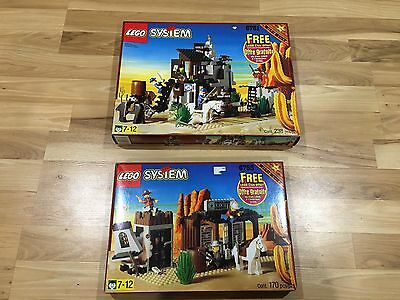 Vintage 1996 Lego Wild West Sets 6761 & 6755 BOXES ONLY With Trays