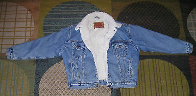 Vintage Levis Denim Sherpa Lined Jean Jacket  Men's 70609 Small USA Snap Buttons