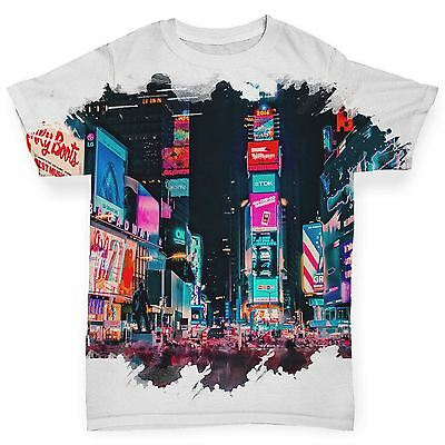 Twisted Envy Time Square New York Baby Toddler Funny ALL-OVER PRINT Baby T-shirt