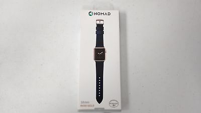 Nomad Watch Strap Band 38mm Apple Watch ‑ Blue with Rose Gold Lugs