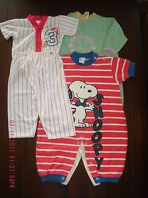 child sz 6 month lot of 3-1/2 pc outfits EUC Snoopy, baseball