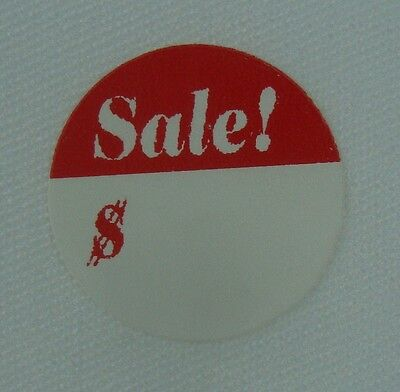 "500 Self-Adhesive Sale! $ 3/4"" Labels Stickers Retail Store Supplies"