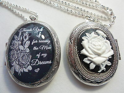 Thank You For Raising The Man Of My Dreams Cameo Double Sided Locket