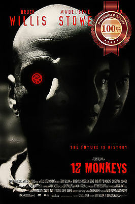 New 12 Monkeys Twelve Terry Gilliam Bruce Willis Film Movie Print Premium Poster