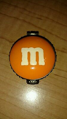 M&M's Candy Collectible Boyds Bears Orange Charm Box