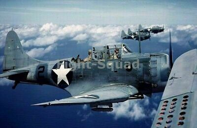 WW2 Picture Photo 1942 SBD Dauntless dive-bombers in flight 1651
