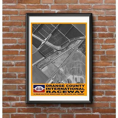 Orange County International Raceway Track Poster - Near Disneyland in California