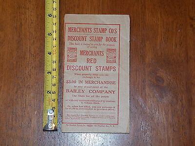 Merchants Stamps Red Discount Book Bailey Company Cleveland Ohio Booklet