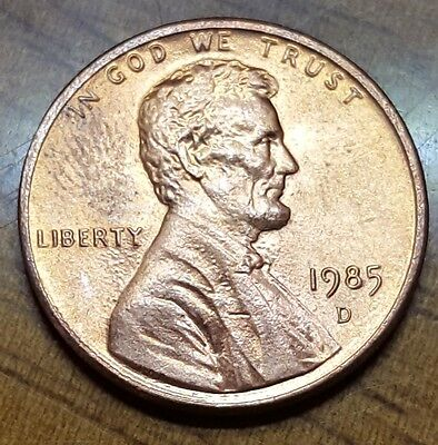 1985 D PENNY VERY NICE CONDITION COIN 1 CENT lincoln memorial