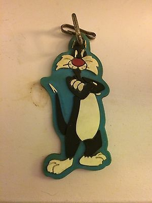 Vintage Warner Brothers Looney Tunes Sylvester The Cat Vintage Keychain
