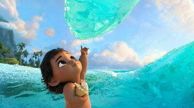"023 Moana - Animation Adventure Comedy Cartoon Movie 24""x14"" Poster"