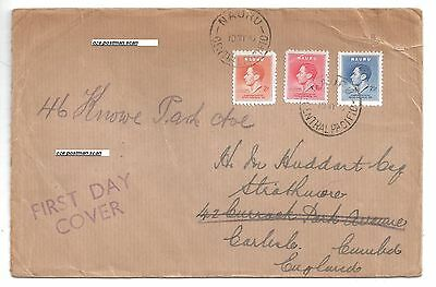 1937 Nauru Central Pacific first day cover by Selfirdge and co phillatic dept