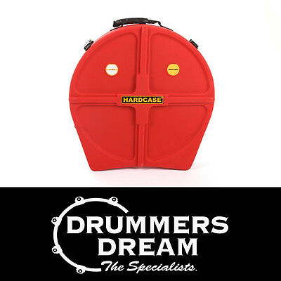 "HARDCASE 24"" Cymbal Case w/Wheels & Retractable Pull Handle RRP $319 Red"