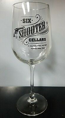 Six Shooter Cellars Stemmed Wine Glass Fredericksburg Texas
