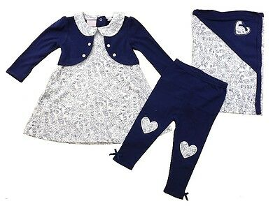Romany Style 100% Cotton Set Dress Leggings & Blanket Outfit by Chloe Louise