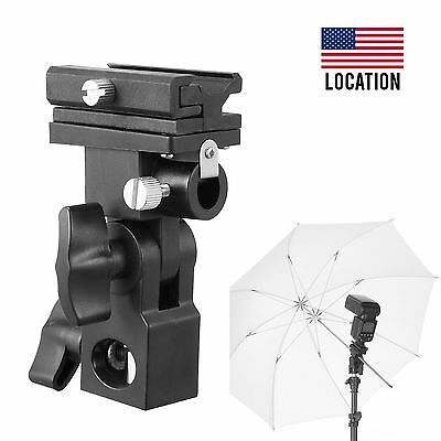 Flash Bracket B Shoe Umbrella Swivel Holder Light Stand For Canon Nikon YongNuo